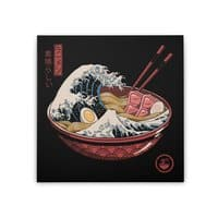 Great Ramen Wave - square-stretched-canvas - small view