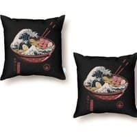 Great Ramen Wave - throw-pillow - small view
