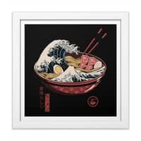 Great Ramen Wave - white-square-framed-print - small view