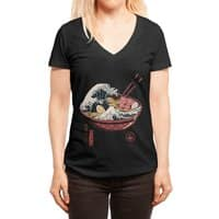Great Ramen Wave - womens-deep-v-neck - small view