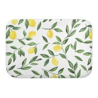 Lemons Pattern - bath-mat - small view