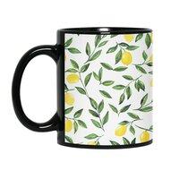 Lemons Pattern - black-mug - small view