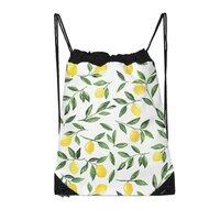 Lemons Pattern - drawstring-bag - small view