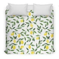 Lemons Pattern - duvet-cover - small view