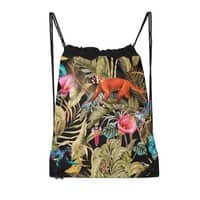 Paradise in the dark jungle 01 - drawstring-bag - small view