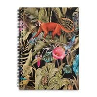 Paradise in the dark jungle 01 - spiral-notebook - small view