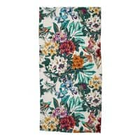 Floral and exotic birds - beach-towel - small view