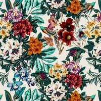 Floral and exotic birds - small view