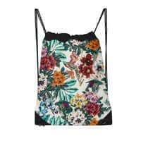 Floral and exotic birds - drawstring-bag - small view