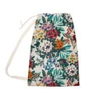 Floral and exotic birds - laundry-bag - small view