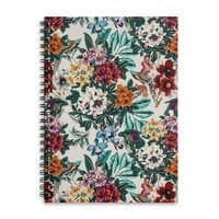 Floral and exotic birds - spiral-notebook - small view