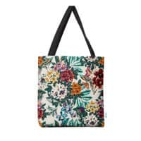 Floral and exotic birds - tote-bag - small view