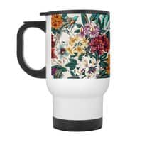 Floral and exotic birds - travel-mug-with-handle - small view