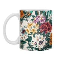 Floral and exotic birds - white-mug - small view