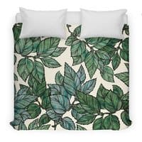 Turning Over a New Leaf - duvet-cover - small view
