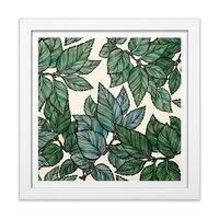 Turning Over a New Leaf - white-square-framed-print - small view