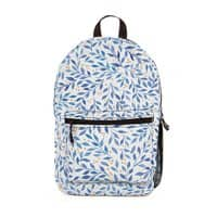 Berry Branches Pattern - Blue Palette - backpack - small view