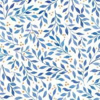Berry Branches Pattern - Blue Palette - small view