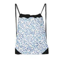 Berry Branches Pattern - Blue Palette - drawstring-bag - small view