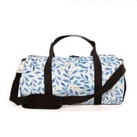 Berry Branches Pattern - Blue Palette - duffel-bag - small view