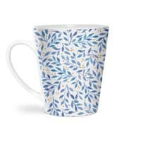 Berry Branches Pattern - Blue Palette - latte-mug - small view