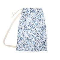 Berry Branches Pattern - Blue Palette - laundry-bag - small view