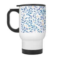 Berry Branches Pattern - Blue Palette - travel-mug-with-handle - small view