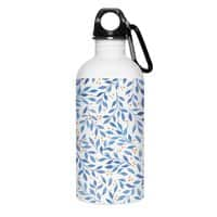 Berry Branches Pattern - Blue Palette - water-bottle - small view