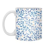 Berry Branches Pattern - Blue Palette - white-mug - small view