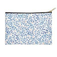 Berry Branches Pattern - Blue Palette - zip-pouch - small view