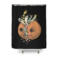 Pumpkin remix  - shower-curtain - small view