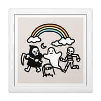 Spooky Pals - white-square-framed-print - small view