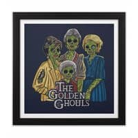 The Golden Ghouls - black-square-framed-print - small view
