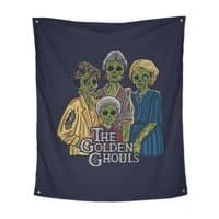 The Golden Ghouls - indoor-wall-tapestry-vertical - small view