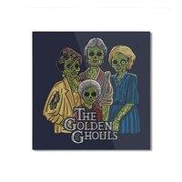 The Golden Ghouls - square-mounted-aluminum-print - small view