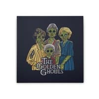 The Golden Ghouls - square-stretched-canvas - small view