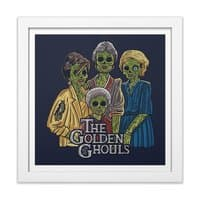 The Golden Ghouls - white-square-framed-print - small view