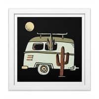 Van Life - white-square-framed-print - small view