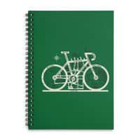 Bike City Map - spiral-notebook - small view