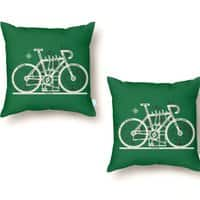 Bike City Map - throw-pillow - small view