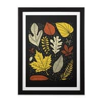 Simply Leaves - black-vertical-framed-print - small view