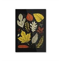 Simply Leaves - vertical-mounted-aluminum-print - small view