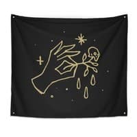 The Black Flower - indoor-wall-tapestry - small view