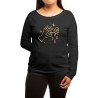 The Black Flower - womens-long-sleeve-terry-scoop - small view