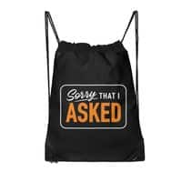 Sorry I Asked - drawstring-bag - small view