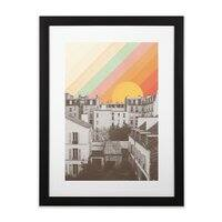 Rainbow Sky Above Paris - black-vertical-framed-print - small view
