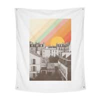 Rainbow Sky Above Paris - indoor-wall-tapestry-vertical - small view