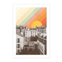 Rainbow Sky Above Paris - vertical-print - small view