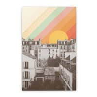 Rainbow Sky Above Paris - vertical-stretched-canvas - small view