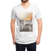 Rainbow Sky Above Paris - vneck - small view